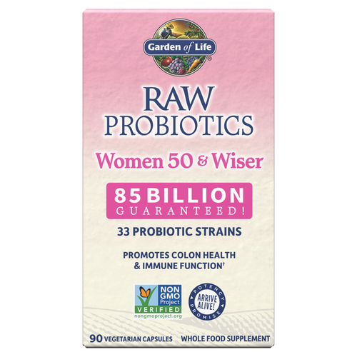 Garden of Life Raw Probiotics Women Cooler 50 & Wiser 90 Capsules