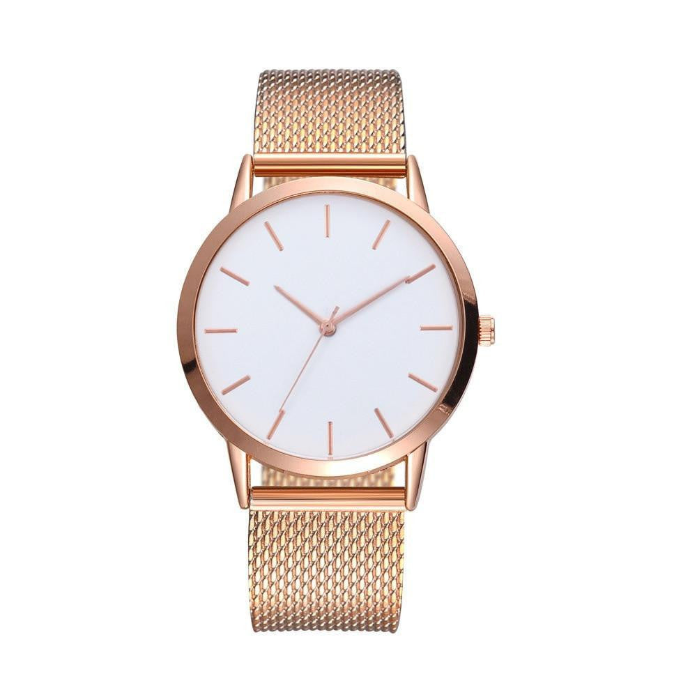 The Classic Minimalistic Wrist Watch - Black, Silver or Rose Gold-Joya Jewelry