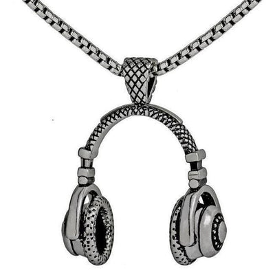 DJ Headphone Necklace Charm Pendant Music Jewelry-Joya Jewelry