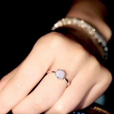 Fashion Women Jewelry Aluminum Alloy Wedding Engagement Ring-Joya Jewelry