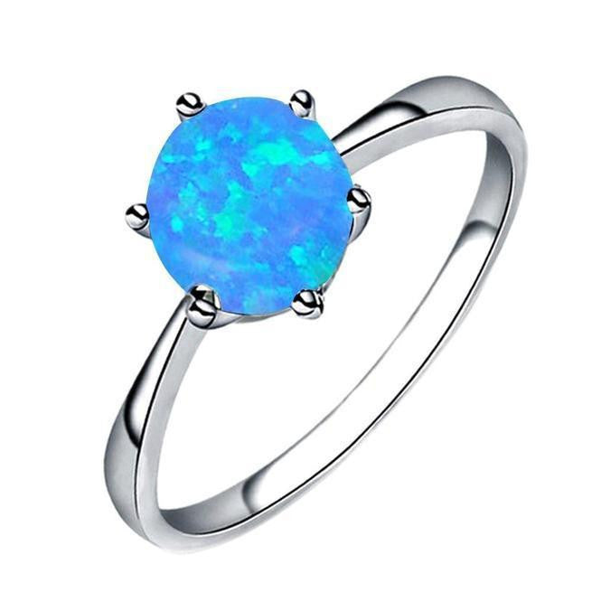 Fashion Women Jewelry Aluminum Alloy Wedding Engagement Ring