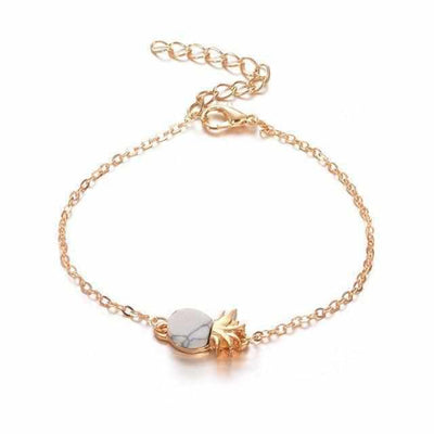 Korean New Women Vintage Cute Pineapple Fruit Bracelet Wrist Chain-Joya Jewelry