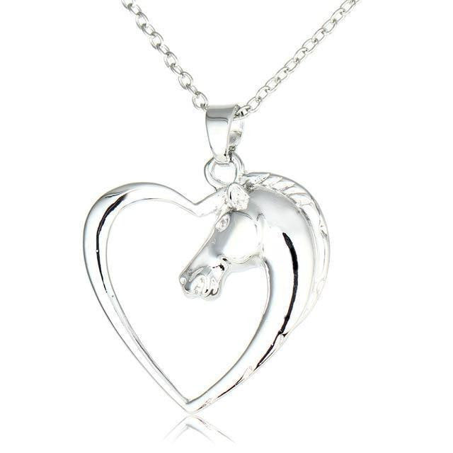 Heart Shaped Horse Necklace