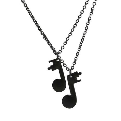 Couples music note necklaces friendship-Joya Jewelry