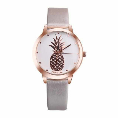 Rose gold analogue watch pineapple design-Joya Jewelry