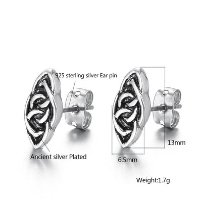 Celtic stud earrings-Joya Jewelry