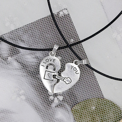 Set couple heart pendant necklaces-Joya Jewelry