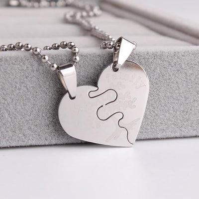 """My Family"" tree hearts couple necklaces-Joya Jewelry"