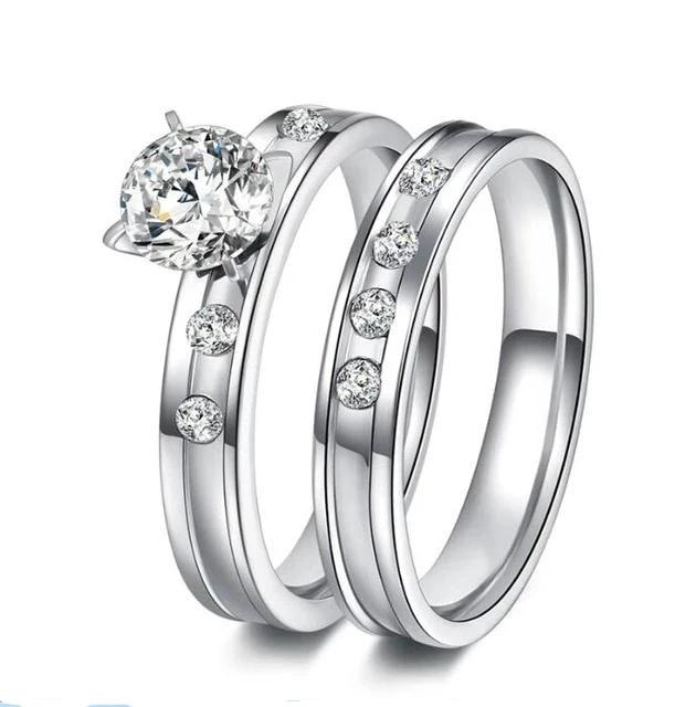 Engagement Wedding Couple Rings-Joya Jewelry