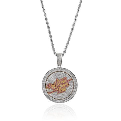 Rolling stones cubic zirconia hip hop spinner chain necklace-Joya Jewelry