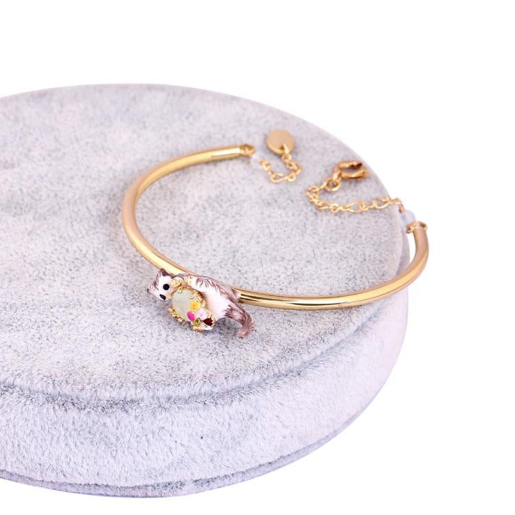 Playing Cats Gold Bracelet Bangle