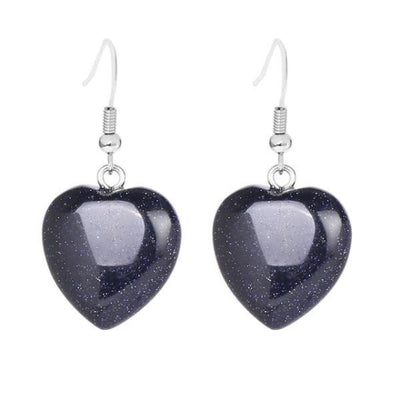 Heart hoop earrings-Joya Jewelry