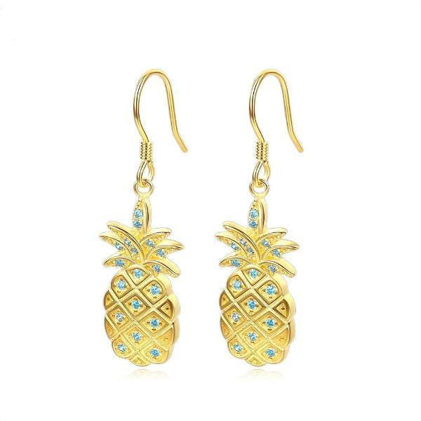 Golden pineapple earrings