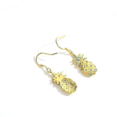 Yellow pineapple earrings-Joya Jewelry