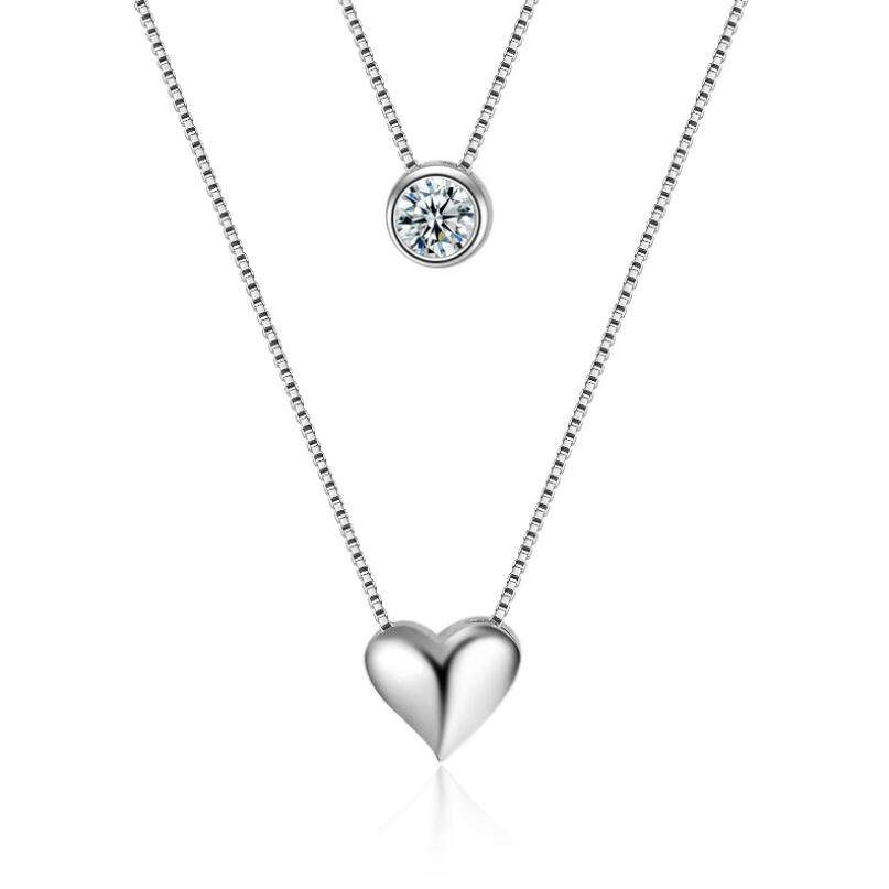 Double heart necklaces