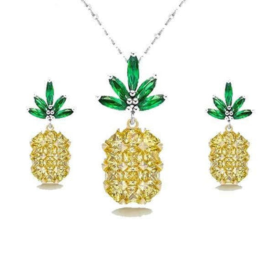 Classic pineapple necklace-Joya Jewelry