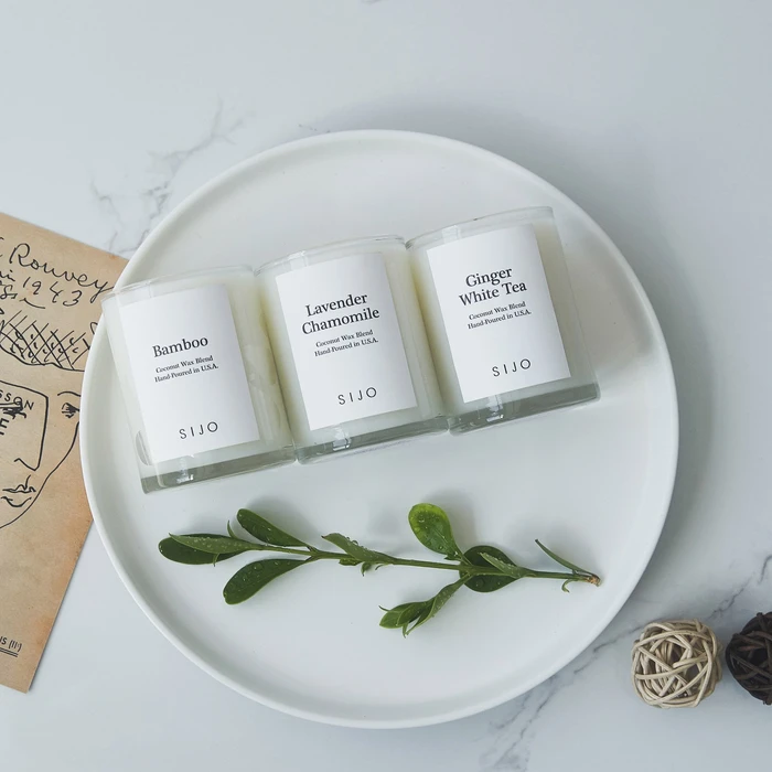sustainable candle trio