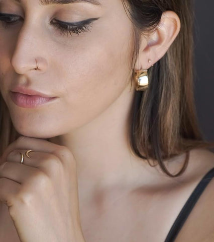 Costante Sade Gold Hoops - ourCommonplace