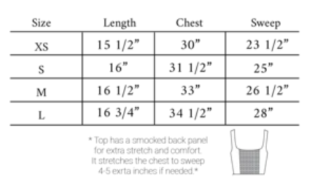 Bianca size guide