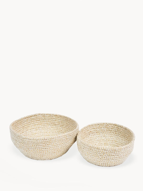 Glitter Bowl - White (Set of 2) KORISSA - ourCommonplace