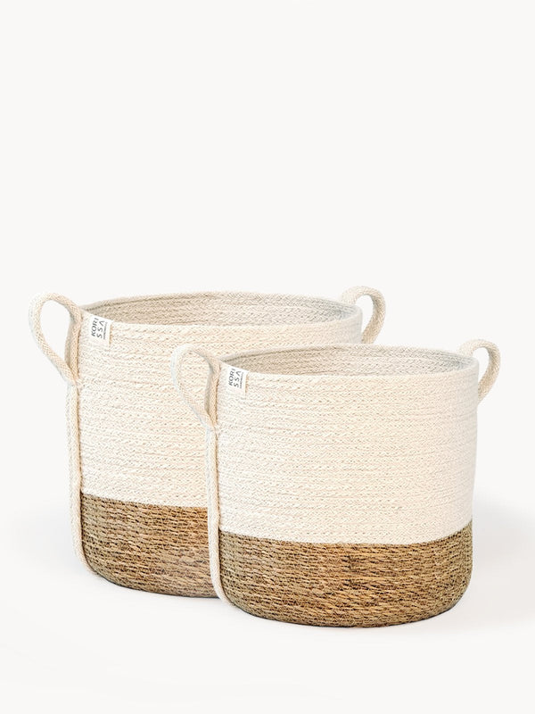 Savar Basket with Side Handle KORISSA - ourCommonplace