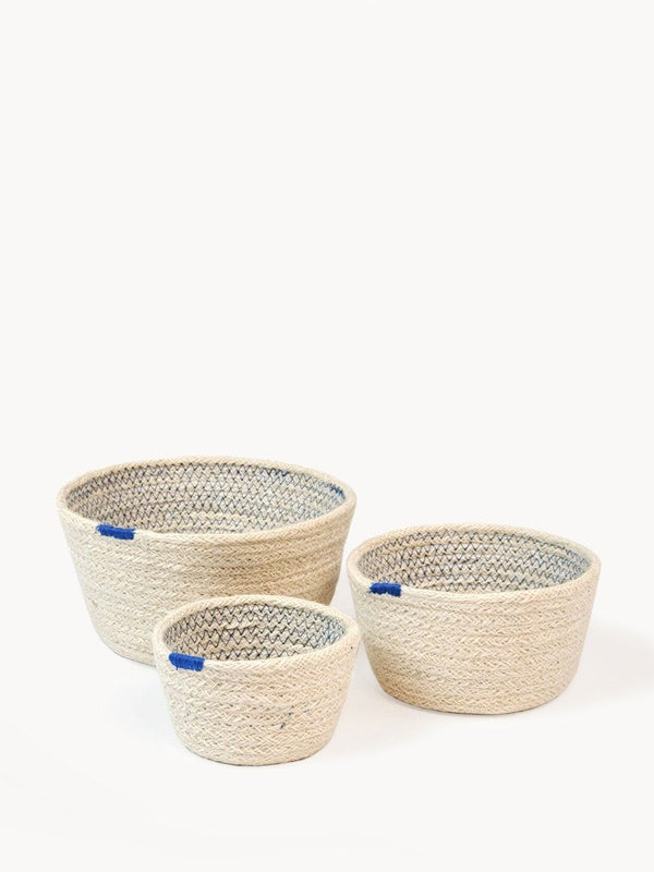 Amari Bowl - Blue (Set of 3) KORISSA - ourCommonplace