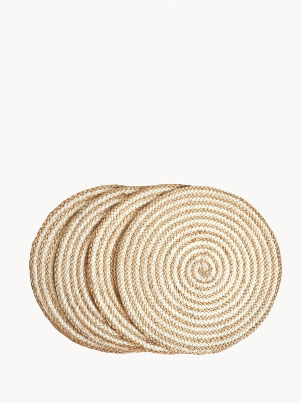 Kata Spiral Placemat - Natural (Set of 4) KORISSA - ourCommonplace