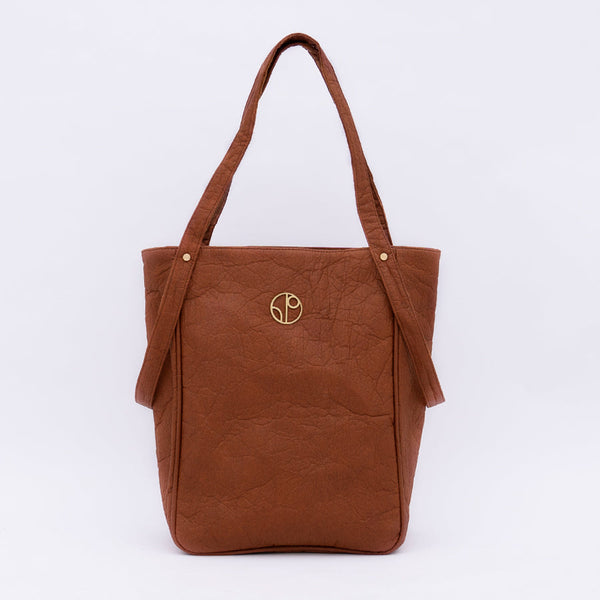 TOKYO NRT Piñatex® Tote Bag - Mocha 1 People - ourCommonplace