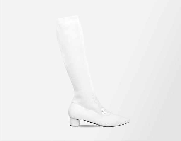 White Mesh Boots - ourCommonplace