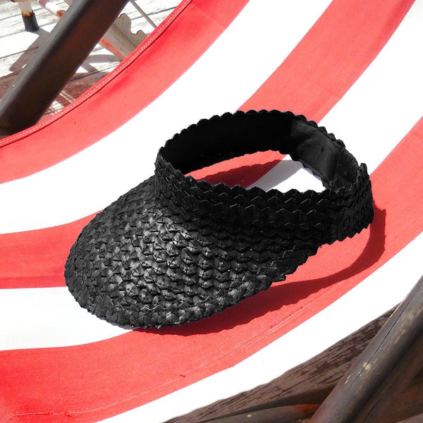 Pandan Visor Hat - Black Brunna Co - ourCommonplace