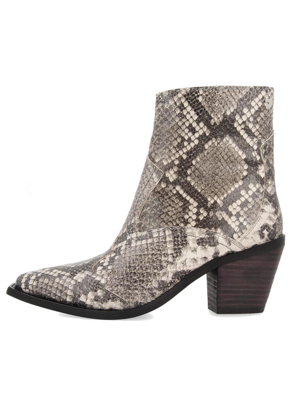 "PREORDER ""CANYON"" snakeskin leather bootie heel"