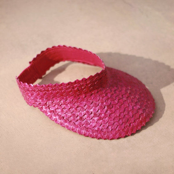 Pandan Visor Hat - Pink Brunna Co - ourCommonplace