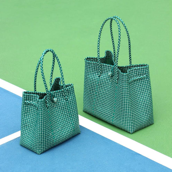 Toko Bazaar Woven Tote Bag - in Green Brunna Co - ourCommonplace