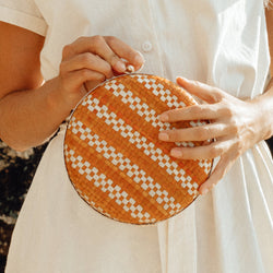 Matta Marie Handwoven Straw Clutch Brunna Co - ourCommonplace
