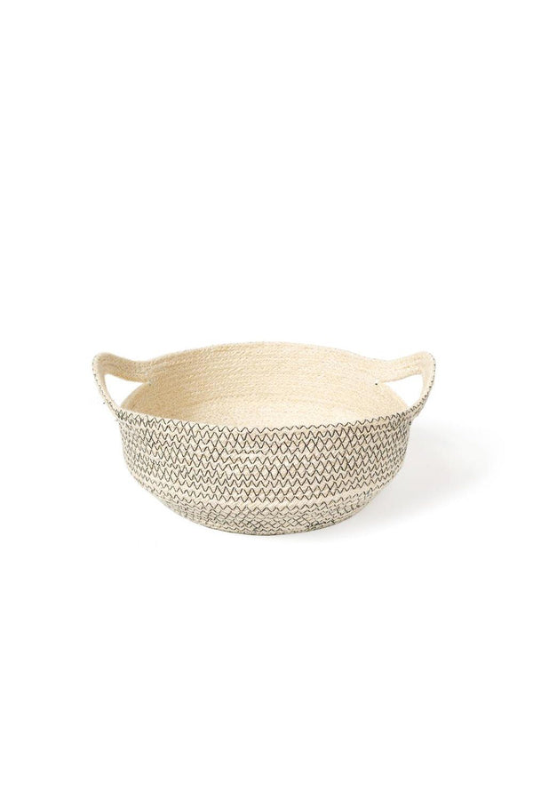 Amari Handwoven Jute Fruit Bowl - Black Hathorway - ourCommonplace