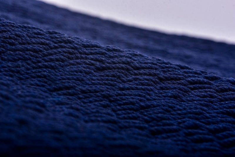 Navy Blue Cotton Hammock (Wooden Bar) Artissanos - ourCommonplace
