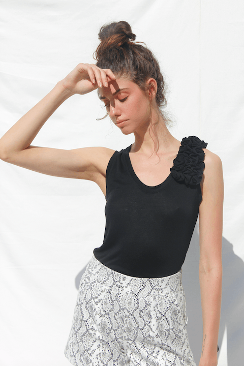 BENNI Knit Corsage Tank Top LAHIVE - ourCommonplace