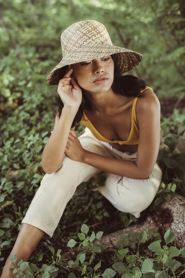 Borneo Fisherman Bucket Straw Hat, in Beige Brunna Co - ourCommonplace
