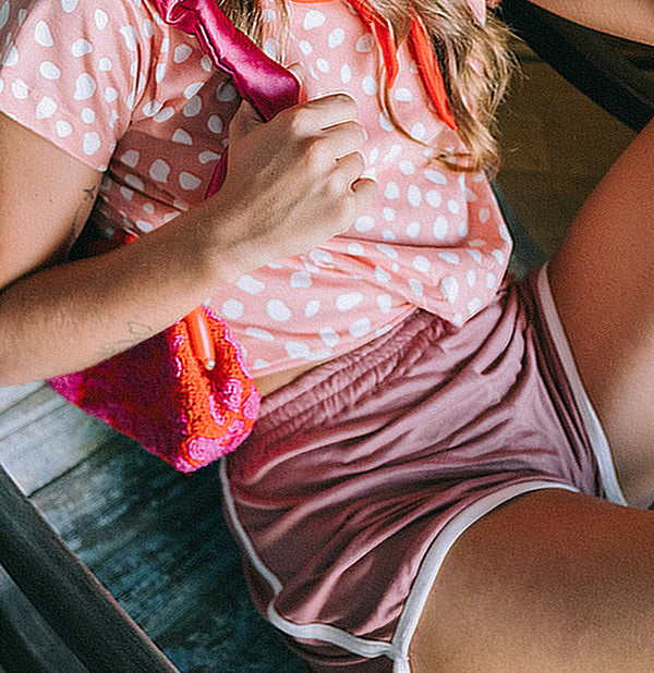 GIRL Seaside Runner Bamboo Shorts, in Desert Rose Brunna Co - ourCommonplace