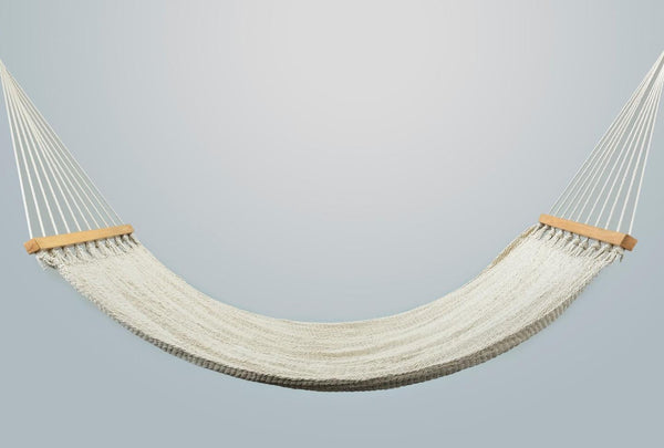 Earth Organic Natural Cotton Hammock (Wooden Bar) - ourCommonplace
