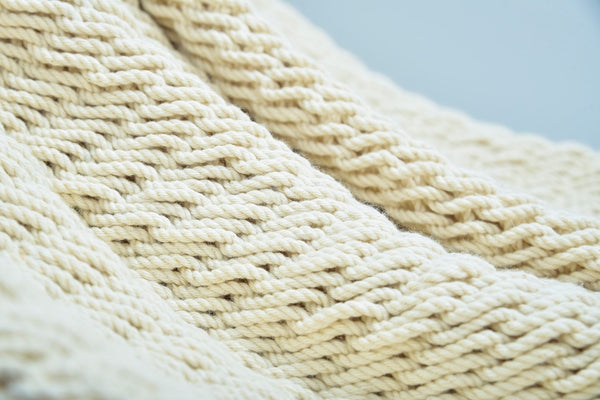 Deluxe Natural Cotton Hammock with Hue Inspired Tassels - ourCommonplace
