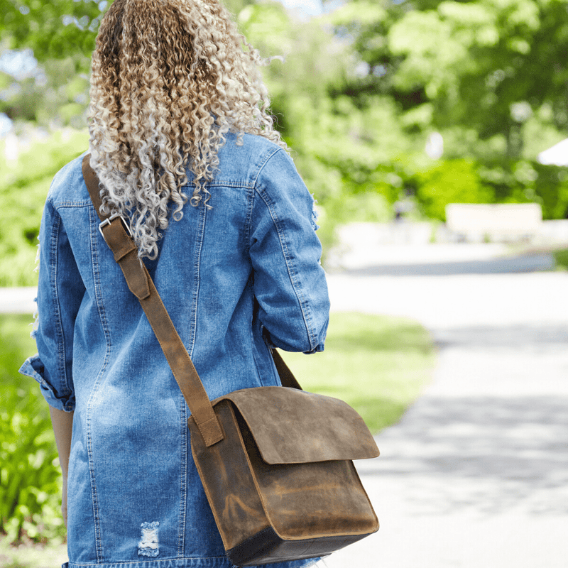 The Jamie Leather Messenger Bag Brave Soles - ourCommonplace