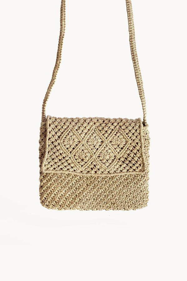 Bari Hand-braided Jute Macrame Bag Hathorway - ourCommonplace