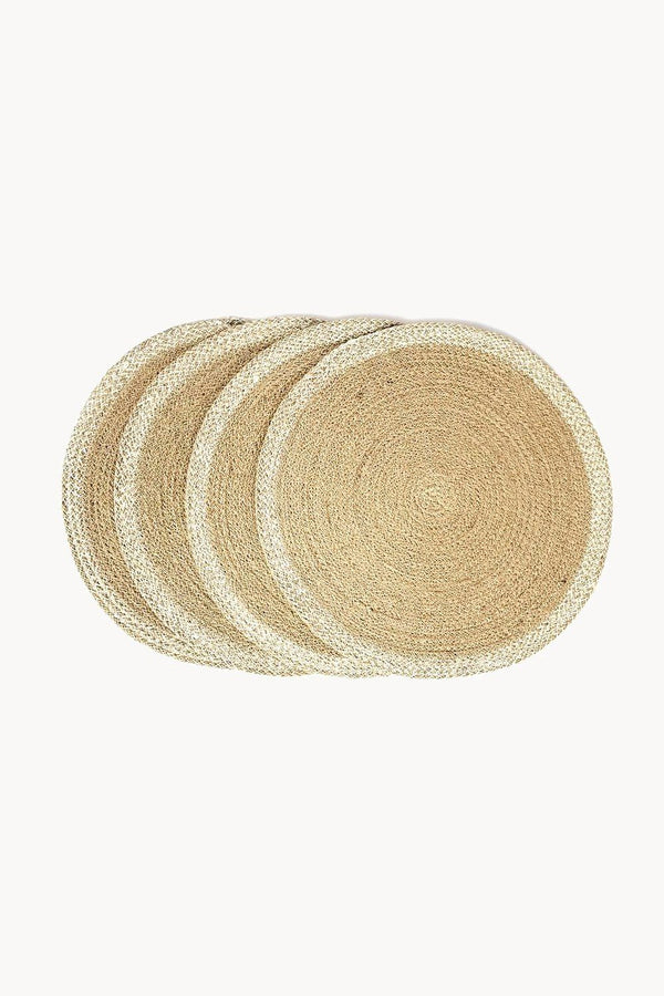 Agora Hand-Braided Jute Placemats - Natural (Set of 4) Hathorway - ourCommonplace