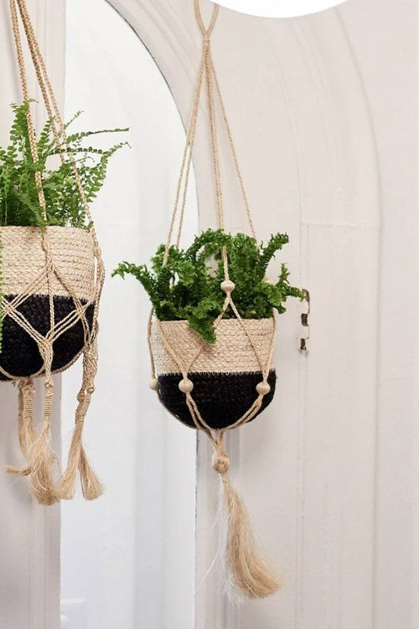 Nadu Hand-Braided Jute Plant Hanger - ourCommonplace