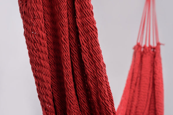 Classic Red Cotton Hammock - ourCommonplace