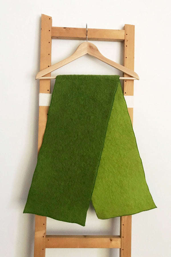 Double Green Scarf Masha Maria - ourCommonplace
