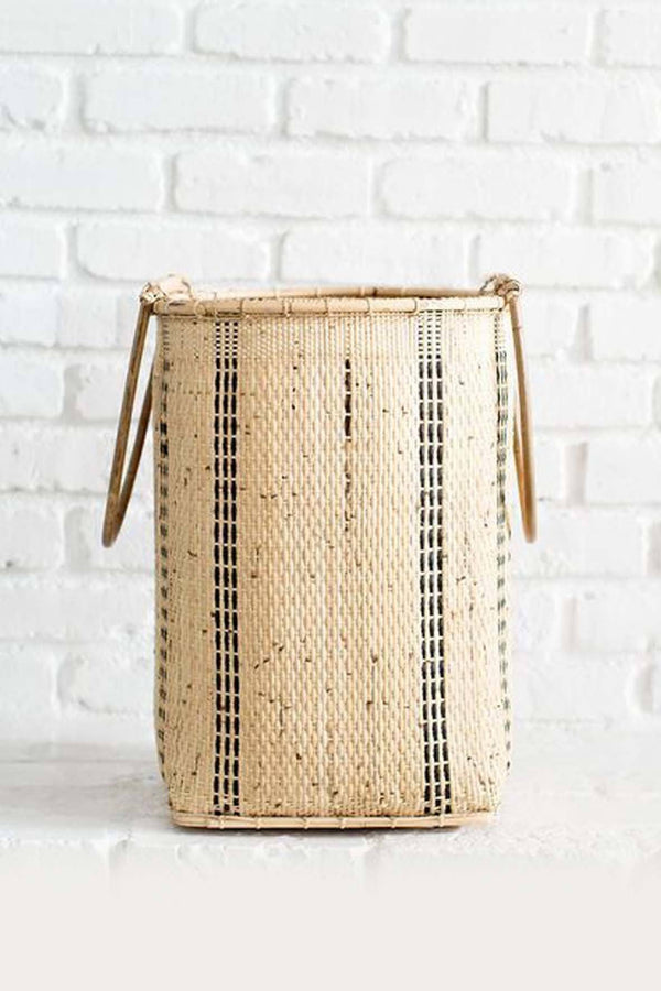 Neepa Hut Bidayuh Handwoven Laundry Basket Hathorway - ourCommonplace