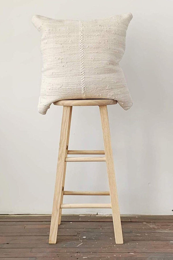 Chindi Handwoven Cotton Pillow - Heavy Cream Hathorway - ourCommonplace