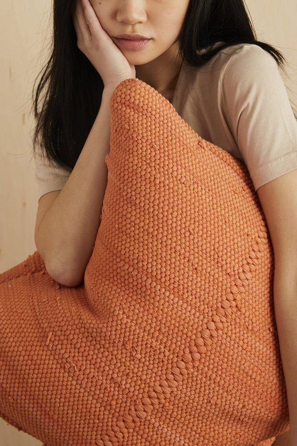 Chindi Handwoven Cotton Pillow - Pottery Hathorway - ourCommonplace